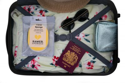 Ramer Travel Sponges Sunburst Yellow & White